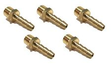 (5 Pack) 3/16 HOSE BARB X 1/8 MALE NPT Brass Fitting NPT Gas Fuel Water Air