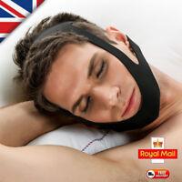 TMJ BLACK Snore Stop Belt Anti Snoring Cpap Chin Strap Sleep Apnea Jaw Solution