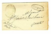 1840 circa Regno Napoli - prefilatelica da Riardo - annullo ovale di Capua