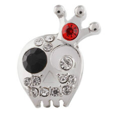SNAP IN BUTTON CHARM FITS GINGER SNAPS STYLE JEWELRY SKULL WITH CROWN #22