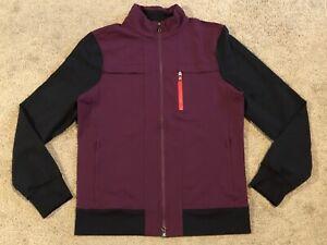 Men's Lululemon Sojourn Stretch Full Zip Purple/Black Jacket