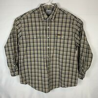 Carhartt Mens Long Sleeve Button Up Shirt Size 2XL Cotton