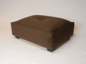 Large Tufted Suede Footstool Available In 7 Colors