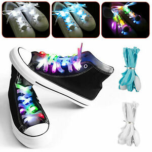 Light Up Shoelaces LED Laces 3 Modes Strap Party Flashing Shoe Nylon Shoelace US