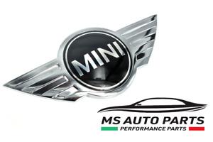 stemma logo fregio emblema cofano mini cooper anteriore metallo biadesivo baule