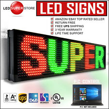 """LED SUPER STORE: 3COL/RGY/PC 22""""x98"""" Programmable Scrolling EMC Display MSG Sign"""