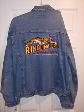 New listing Vintage 70s Ringling Bros. And Barnum Bailey Circus Denim Jacket,Xl,Presented By
