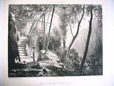 ART phototypie XIXe d'après A. de Curzon - sur l'escalier d' atrani italie