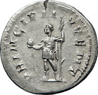 PHILIP II Roman Caesar with globe 244AD Silver Rare Ancient Roman Coin i70202