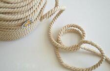 Corde coton tressée - Beige clair lot 2m