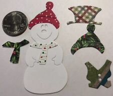 BUILD A SNOWMAN Die-Cut Kit(9pc) Christmas•Holiday•Winter•Scarf•Vest •Hats•Tie