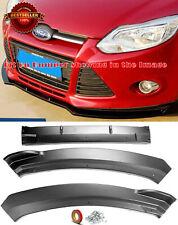 Front Bumper Lip Spoiler Diffuser Splitter Winglet Diffuer For 12-14 Ford Focus