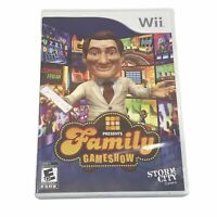 GSN Presents: Family Gameshow (Nintendo Wii, 2010) Complete w/ Manual ~ Tested