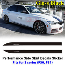 Fits BMW F30 F31 3 Series M Performance Side Skirt Decal Stickers GLOSS BLACK