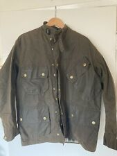 Vintage Barbour International Waxed Military Olive 44 46 Heavy Smell Jacket Coat