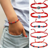 Fashion Lucky Evil Eye Beaded Bracelet Rope String Braided Bangle Jewelry Gifts