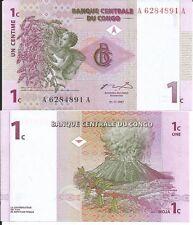 CONGO BILLETE 1 CENTIME 1997 P 80