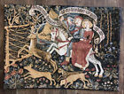 """Gorgeous Vintage German Scenic Forest Animals Tapestry Wall Hanging 25 X 18"""""""