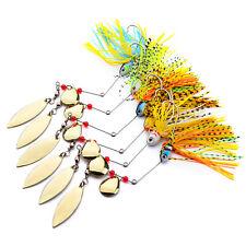 6PCS Fishing Spoon Lure buzzbait fishing spinners baits hook 15-18G