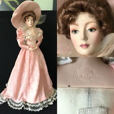 "22"" BISQUE FRANKLIN MINT GIBSON GIRL HEIRLOOM DOLL IN PINK, 1990"