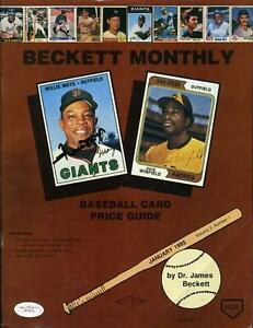 Willie Mays Dave Winfield Signed 1985 Beckett Jsa Certed Autograph