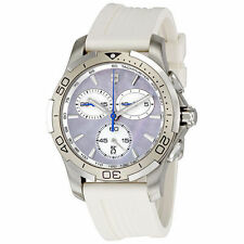 NEW Victorinox Swiss Army 241352 Alliance Chrono Ladies MOP White Rubber Watch