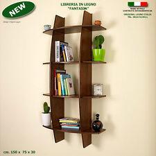 Libreria FANTASIA in legno noce mensola scaffale a muro parete ufficio studio