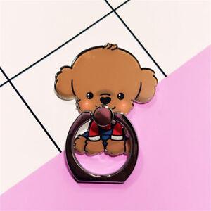 Cute Dog Finger Ring Stand Holder Round 360° Ring Bracket For All Smart Phones