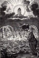 Biblical Art print c 1910 The scroll fed to Ezekiel Dutch Master B Picart d1734
