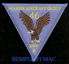 MAG-46 DET B AUTHENTIC US MARINE PATCH MARINE AIR GROUP PIN UP MAW MCAS GIFT WOW