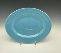 "Vintage Harlequin Platter Turquoise Blue 11 1/2"" Homer Laughlin Fiesta"