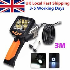 "3.5"" 8.2mm LCD Monitor Inspection Endoscope Borescope Video Camera Snake Tube"