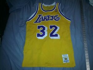 MacGregor Sand-Knit Magic Johnson #32 Basketball Jersey Los Angeles Lakers sz 40