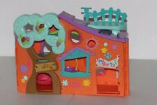 LITTLEST PET SHOP TREE HOUSE ORANGE CLUB TEAL BLUE TOY CLUBHOUSE 2007 SWING