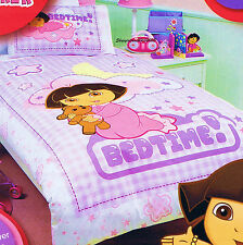 Dora the Explorer - Bedtime - Double/US Full Bed Quilt Doona Duvet Cover Set