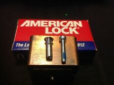 Five (5) SETS American Padlock (10 pieces) all new *Security Nuts & Screws
