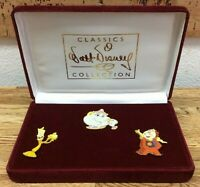 WDCC Walt Disney Classic Collection Beauty & the Beast 3 Pin Set, Potts Chip