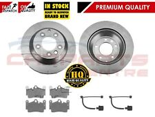 FOR PORSCHE CAYENNE 955 957 4.5 4.5S TURBO REAR BRAKE DISCS PADS WIRES