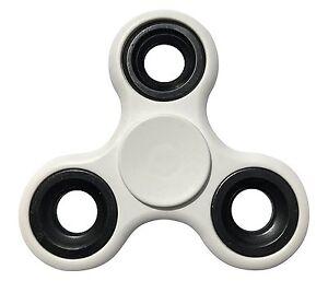 Genuine Tri Fidget Hand Spinner Toy Ultra Durable Stainless Steel Bearing White