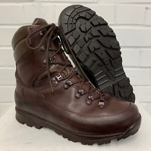 ITURRI BROWN LEATHER COLD WET WEATHER COMBAT BOOTS - 7 Medium , British Army