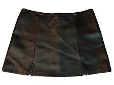 Black pleather Gothic, Punk, Psychobilly Mini-skirt  Size Large