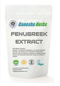 100% pure & organic FENUGREEK Seed 20:1 EXTRACT POWDER 50 grams no capsules