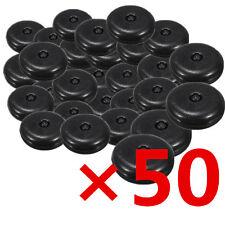 50×Universal Clip Seat Belt Stopper Buckle Button Fastener Safety Black Car Part