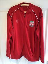 Liverpool FC Retro Vintage Retro Rojo Chaqueta Con Cremallera Chándal-UK Size XL