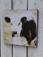 Black White Cow Farm Animal Canvas Wall Picture Primitive Farmhouse Home Decor