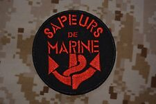 Z002 insigne tissu militaire écusson patch Sapeurs de Marine Troupes de Marine