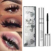 Waterproof Qibest Natural 3D Fiber Mascara Eyelash Long Curling Extension Newly