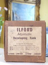 VINTAGE ILFORD London ADJUSTABLE DEVELOPING TANK 35 mm in BOX