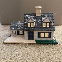 Byron Molds Christmas Village House Hand Painted Ceramic 1979