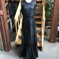 Elie Tahari Sarah Dress Gown Sleeveless Empire Waist Ruffle Hem Lace Brocade 8